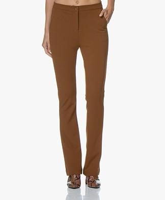 Kyra & Ko Faylinn Crepe Jersey Pants - Toffee