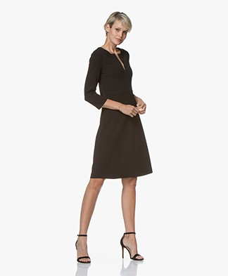 Kyra & Ko Grape Crepe Jersey Dress - Black