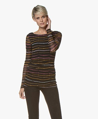 Kyra & Ko Usja Mesh Long Sleeve - Black