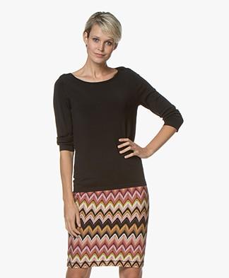 Kyra & Ko Jadey Fine Knit Pullover - Black