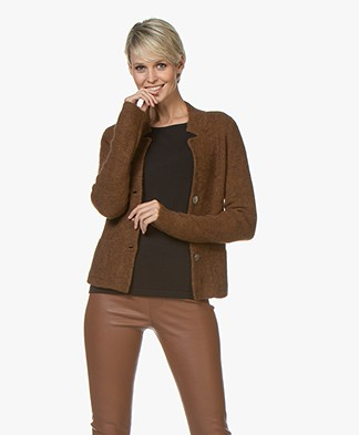 Kyra & Ko Kitty Kort Rib Vest - Toffee
