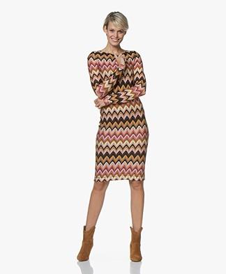Kyra & Ko Djuna Intarsia Dress - Caramel