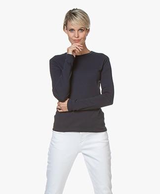 Petit Bateau R-neck Cotton Long Sleeve - Smoking