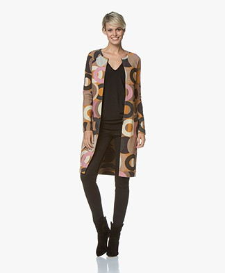 Kyra & Ko Cleo Long Textured Blazer Coat - Caramel