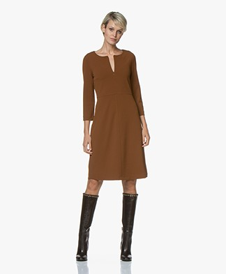 Kyra & Ko Grape Crepe Jersey Dress - Toffee