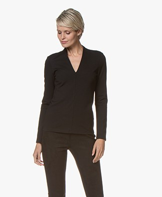 Kyra & Ko Flavia Viscose Interlock Long Sleeve - Black