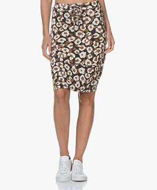 Kyra & Ko Charissa Leopard Print Balloon Skirt - Black