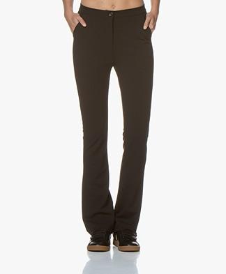 Kyra & Ko Faylinn Crepe Jersey Pants - Black