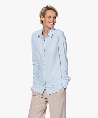 Josephine & Co Roeland Travel Jersey Blouse - Light Blue