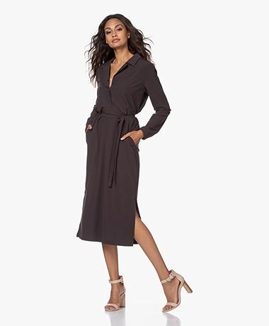 Josephine & Co Joyce Travel Jersey Midi Dress - Brown