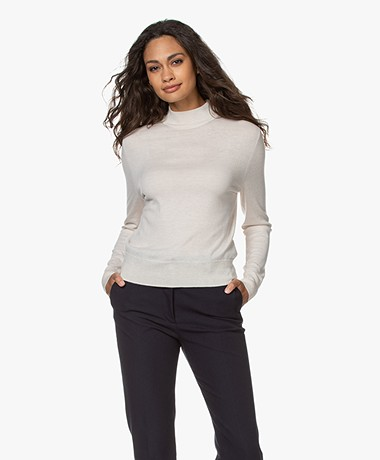 Filippa K Lynn Wool-silk Blend Sweater - Ivory