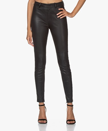 Drykorn Winch Skinny Leather Pants - Black