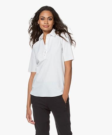 JapanTKY Hyn Travel Jersey Polo T-shirt - Panna