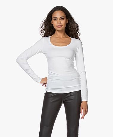 Drykorn Selima Round Neck Long Sleeve - White