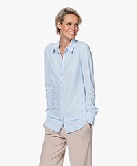 Josephine & Co Roeland Travel Jersey Blouse - Light Blue