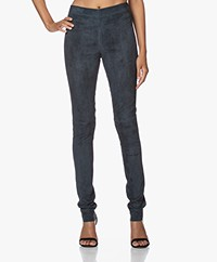 Joseph Legging in Stretch Suede - Petrol