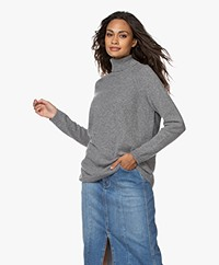 LaSalle Pure Cashmere Turtleneck Sweater - Grey