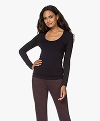 Majestic Filatures Soft Touch Jersey Long Sleeve - Marine