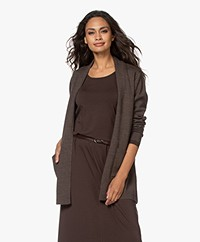 Sibin/Linnebjerg Joan Mid-length Two-tone Cardigan - Brown/Black