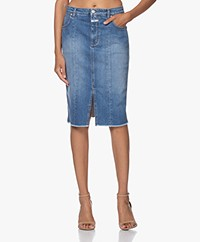 Closed Emmett Organic Denim Kokerrok - Medium Blauw
