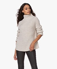 Drykorn Arwen Rib Knit Turtleneck Sweater - Tapioca