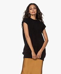 American Vintage Zabidoo Sleeveless Mohair Blend Sweater - Black