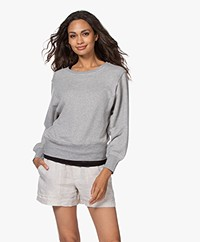 American Vintage Neaford Cotton Sweater - Heather Grey