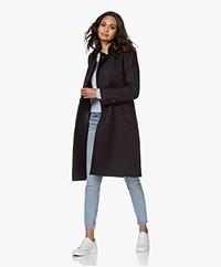 Drykorn Harleston Knee-length Wool Blend Coat - Dark Navy