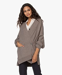 extreme cashmere N°24 Tokio Cashmere Button-through Cardigan - Tree