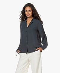 Filippa K Gia Blouse with Drawstring Cuffs - Pacific Blue