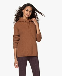 Sibin/Linnebjerg Suri Mohair Mix Hooded Sweater - Camel
