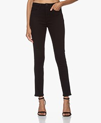 Rag & Bone Nina High-Rise Ankle Skinny Jeans - No Fade Black
