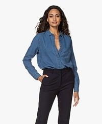 Closed Hailey Denim Twill Blouse - Medium Blauw