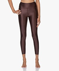 Filippa K Soft Sport Cropped Gloss Legging - Maroon