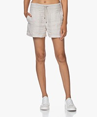 James Perse Military Linen Shorts - Wheat