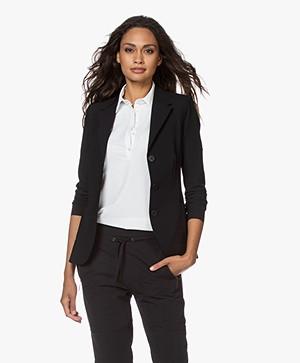 JapanTKY Yuuka Tailored Travel Jersey Blazer - Black