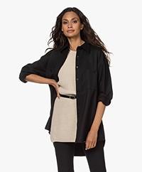 Filippa K Sandie Flannel Overhemdblouse - Zwart