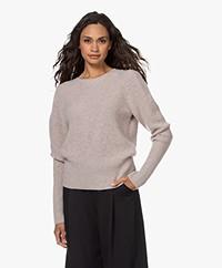 Repeat Organic Cashmere Ajour Sweater - Multibeige