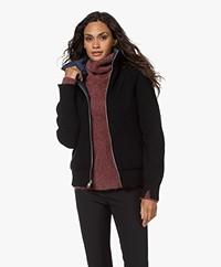 Rag & Bone Mikaela Zip Up Reversible Jacket - Black/Navy