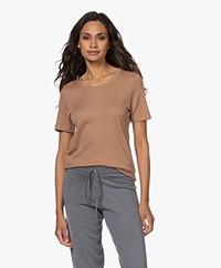 Repeat Rib Jersey T-shirt - Walnut
