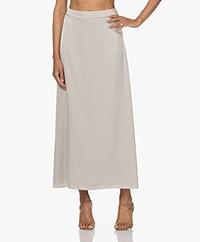 Filippa K Selma Satin A-line Maxi Skirt - Light Beige