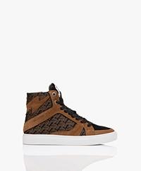 Zadig & Voltaire High Flash Print Sneakers - Cognac