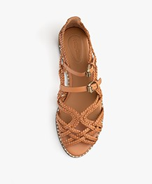 See by Chloé Katie Braided Leather Sandals - Camel