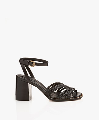 See by Chloé Katie Braided Heeled Sandals - Black