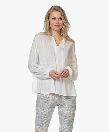 Closed Tencel Jersey Blouse - Ivory