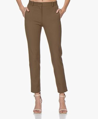 Joseph New Eliston Gabardine Stretch Pants - Khaki