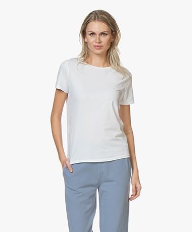 American Vintage Vegiflower Organic Cotton T-shirt - Wit
