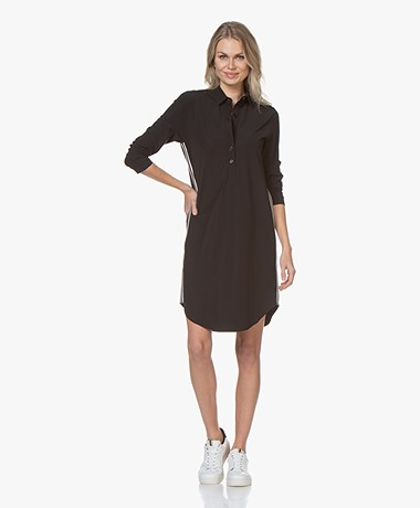 Josephine & Co Roma Travel Jersey Jurk - Zwart