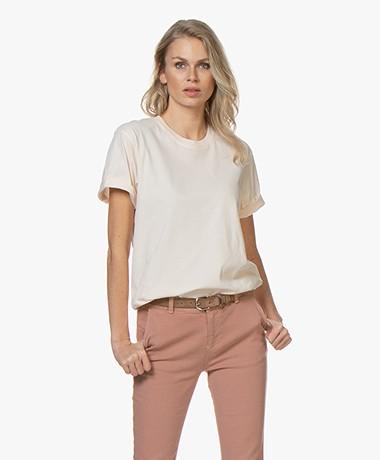 Closed Geborsteld Katoenen T-shirt - Peony