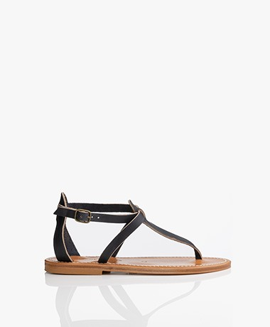 K. Jacques St. Tropez Buffon Leather Sandals - Marine
